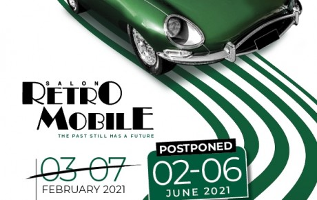 Postponement of Retromobile show Paris from 2nd to 6th february 2022!