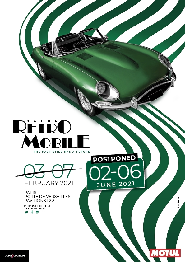 Postponement of Retromobile show Paris from 2nd to 6th june 2021!