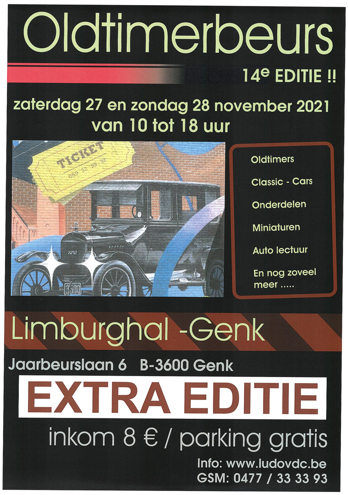 Classic CAR Show Genk Belgium November !