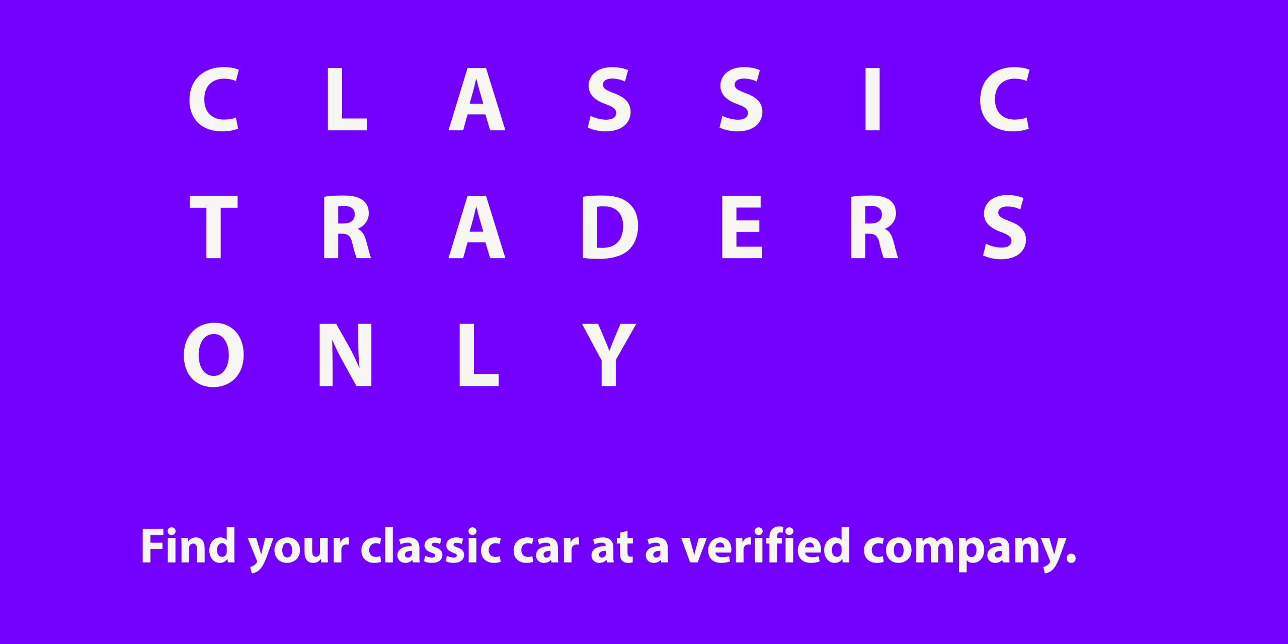Find your classic car, youngtimer or exclusive car with a verified partner.